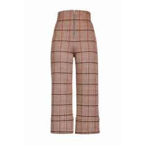 PINKO CHECK CROPPED TROUSERS 1G14F3