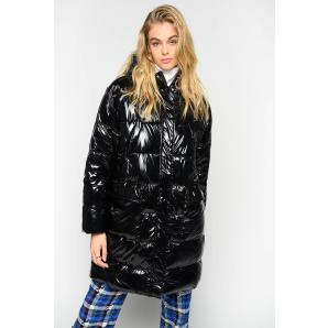 PINKO GLOSSY QUILTED COAT 1G14G6