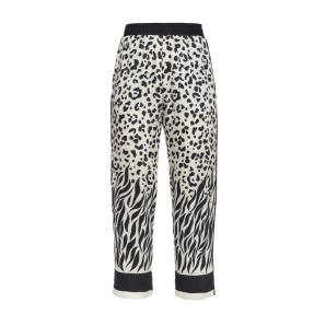 Pinko trousers with mixed faded animal pattern 1G14QZ