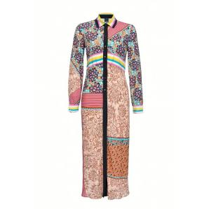 Pinko long patchwork print shirtdress 1G14U5
