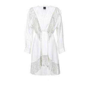 PINKO short dress with rhinestone fringe 1G150N