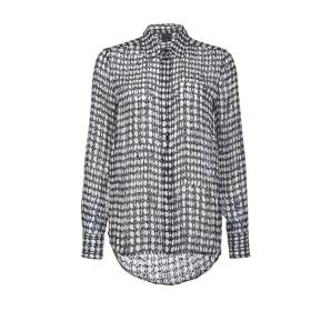 PINKO polka dot print devore satin shirt 1G152N