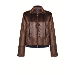 PINKO mink-effect bomber jacket 1G1555