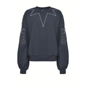 PINKO sweatshirt with rhinestones 1G15B0