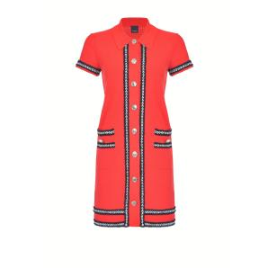PINKO POLO DRESS WITH METAL BUTTONS 1G15Q2