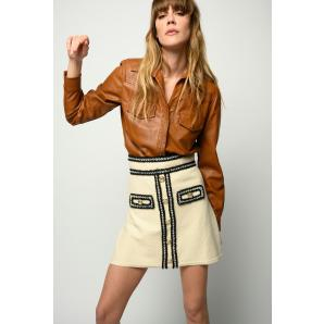 PINKO MINI SKIRT WITH METAL BUTTONS 1G15Q4