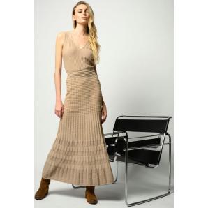 PINKO LONG LUREX COTTON DRESS 1G15SN