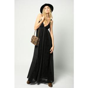 PINKO LONG DRESS IN BRODERIE ANGLAISE 1G15YB