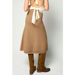 PINKO LONG KNIT SKIRT WITH FRINGING 1G15ZB