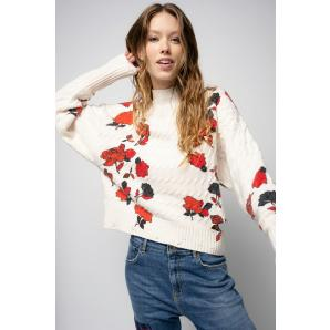 PINKO PULLOVER WITH ROSE PRINT 1G16AK Y7CG
