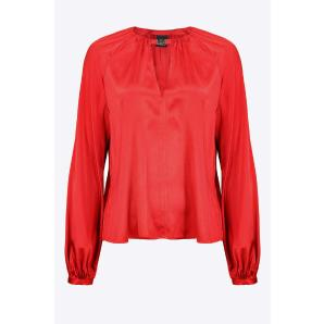 PINKO LONG-SLEEVED STRETCH SATIN BLOUSE 1G16PEZR64