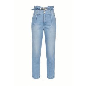 Pinko bustier style high waist chino jeans 1J10E1