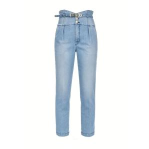 PINKO BUSTIER-STYLE HIGH-WAIST CHINO JEANS 1J10QP