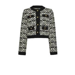 PINKO monogram tweed short jacket
