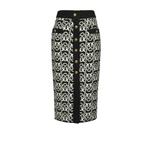 PINKO monogram tweed midi-length skirt
