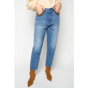 PINKO jeans mom-fit con stelline