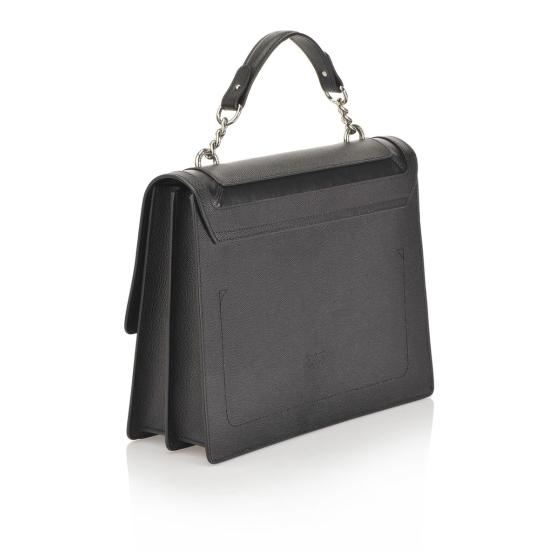 PINKO CAVIAR FLAP BAG IN CAVIAR-EFFECT LEATHER WITH INLAYS 1P21A8 Y5F4-2
