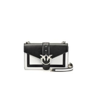 PINKO LOVE BAG EVOLUTION IN TWO-TONE LEATHER 1P21BZ Y5FF