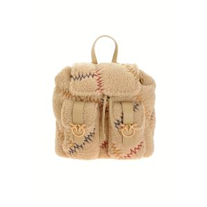 PINKO mini backpack furry in faux fur 1P21T8