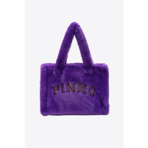 PINKO SMALL FAUX FUR SHOPPER BAG 1Q200EY7NF