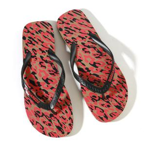 Dsquared2 Animal Print Flip Flops