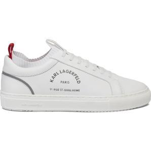 KARL LAGERFELD Kupsole-Paris-logo-lace-shoe-white KL51041