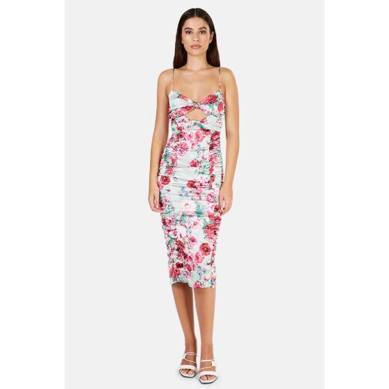 FOR LOVE & LEMONS Midi Floral Dress-1