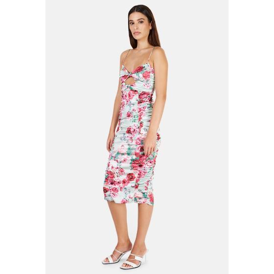 FOR LOVE & LEMONS Midi Floral Dress-2