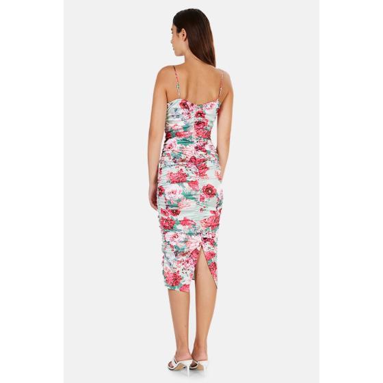 FOR LOVE & LEMONS Midi Floral Dress-4