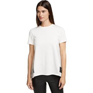 KARL LAGERFELD pleated fabric mix t-shirt 206W1704