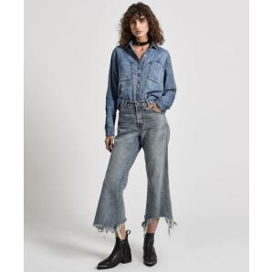 ONE TEA SPOON STORM BOY LIBERTINES HIGH WAIST CROPPED WIDE LEG JEAN 20982