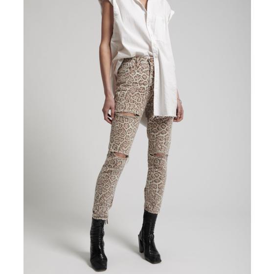 Oneteaspoon leopard freeboards super high waist skinny jean 21308-1