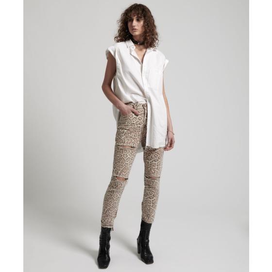 Oneteaspoon leopard freeboards super high waist skinny jean 21308-2