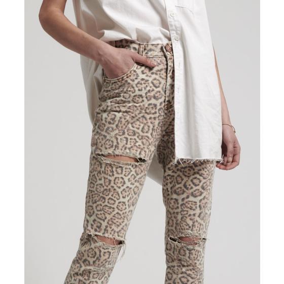 Oneteaspoon leopard freeboards super high waist skinny jean 21308-3