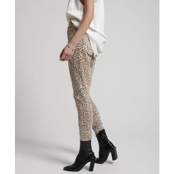 Oneteaspoon leopard freeboards super high waist skinny jean 21308-4