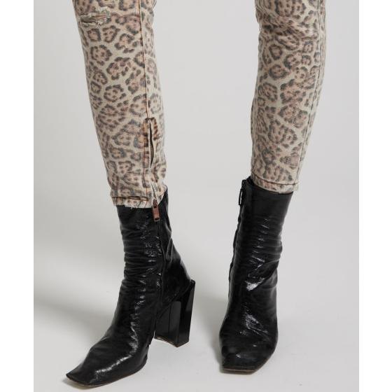 Oneteaspoon leopard freeboards super high waist skinny jean 21308-5