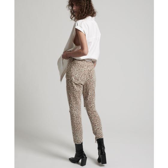 Oneteaspoon leopard freeboards super high waist skinny jean 21308-6