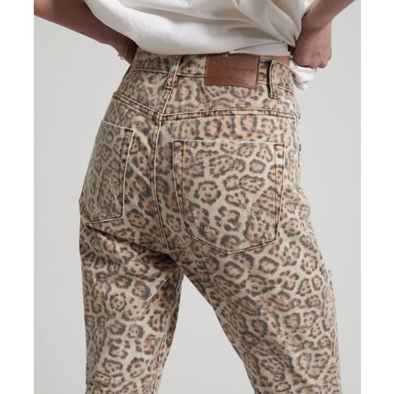 Oneteaspoon leopard freeboards super high waist skinny jean 21308-7