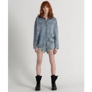 Oneteaspoon salty dog le wolves mid length denim shorts 21374