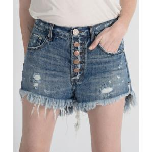 ONETEASPOON JOHNNY BLUE OUTLAWS MID LENGTH DENIM SHORTS 21380
