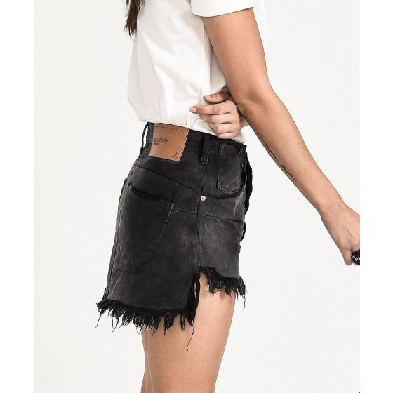 ONE TEA SPOON PANTHER VANGUARD MID RISE RELAXED DENIM MINI SKIRT -2