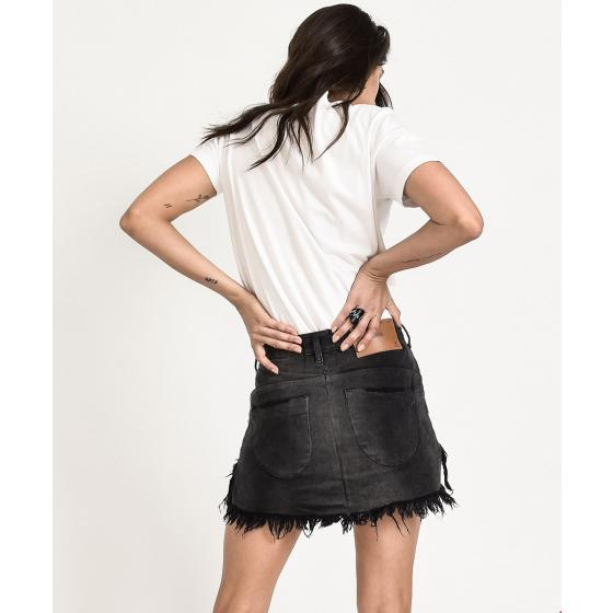 ONE TEA SPOON PANTHER VANGUARD MID RISE RELAXED DENIM MINI SKIRT -3
