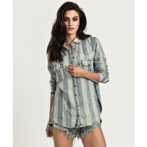 Oneteaspoon french stripe linen shirt 28G21751