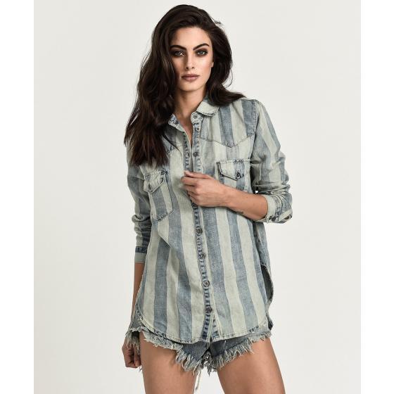 Oneteaspoon french stripe linen shirt 28G21751-0