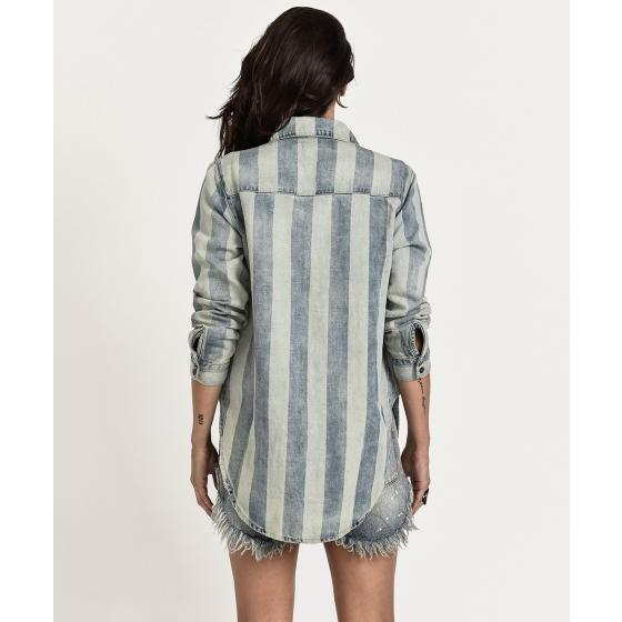 Oneteaspoon french stripe linen shirt 28G21751-2