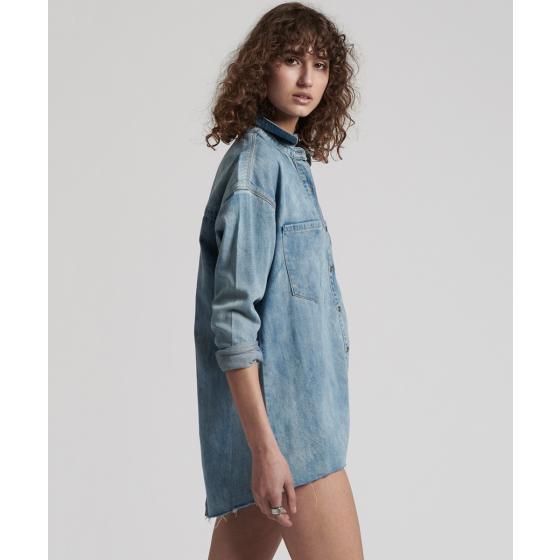 Oneteaspoon blue blossom priscilla split denim shirt 22036-2