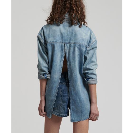 Oneteaspoon blue blossom priscilla split denim shirt 22036-3