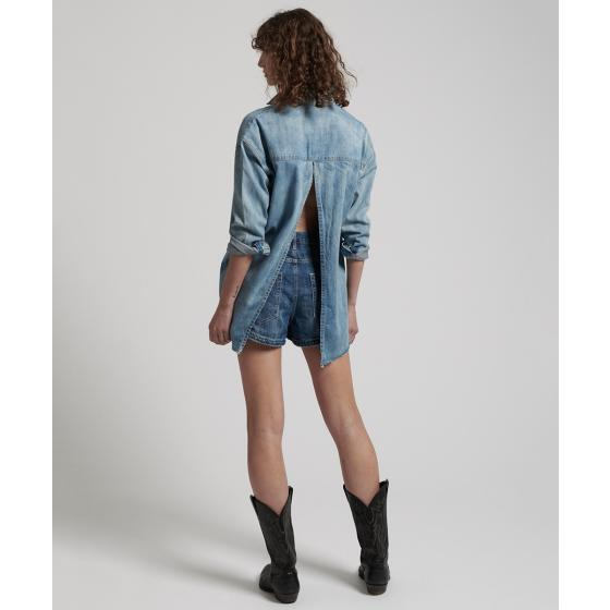 Oneteaspoon blue blossom priscilla split denim shirt 22036-4