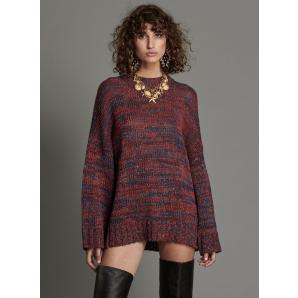ONETEASPOON MERLOT HACKNEY OVERSIZED KNIT SWEATER 22359