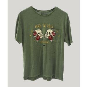 ONE TEA SPOON KHAKI ROCK N ROLL SANTA FE TEE 22396